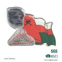 Custom Metal Arabic National Flag Pin Badge for Souvenir