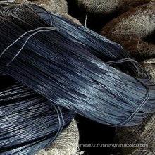 Q195 Fil de fer noir annelé