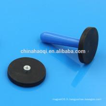D43mm Neo NdFeB base d'aimant revêtue de caoutchouc de néodyme