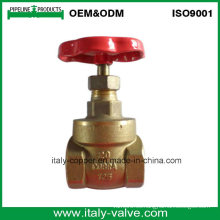 Tipo válvula de puerta de cobre amarillo de la calidad de Italia (AV4053)