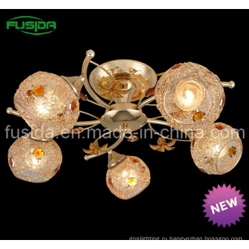 Современный популярный закрытый подвесной светильник с кристаллами