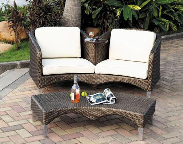 Outdoor Classic Chaise Aluminium Double Sofa Chair