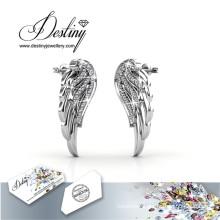 Destiny Jewellery Crystals From Swarovski Angel Wings Earrings