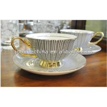 high quality new design microwavable fine bone china porcelain ceramic tea coffee cup and saucer set