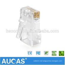 Kundenspezifischer 8P8C cat7 rj45 Stecker mit Kabelschutzabdeckung