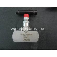 Válvula de agulha de rosca de aço inoxidável de alta pressão de 2 a 6 milímetros