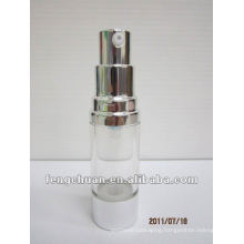 15ml Clear fancy plastic custom airless pump bottle cosmetic packaging in small quantities