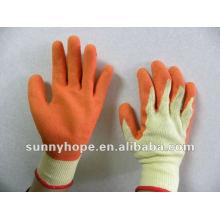 Orange Latex beschichteter Handschuh für Bauarbeiter