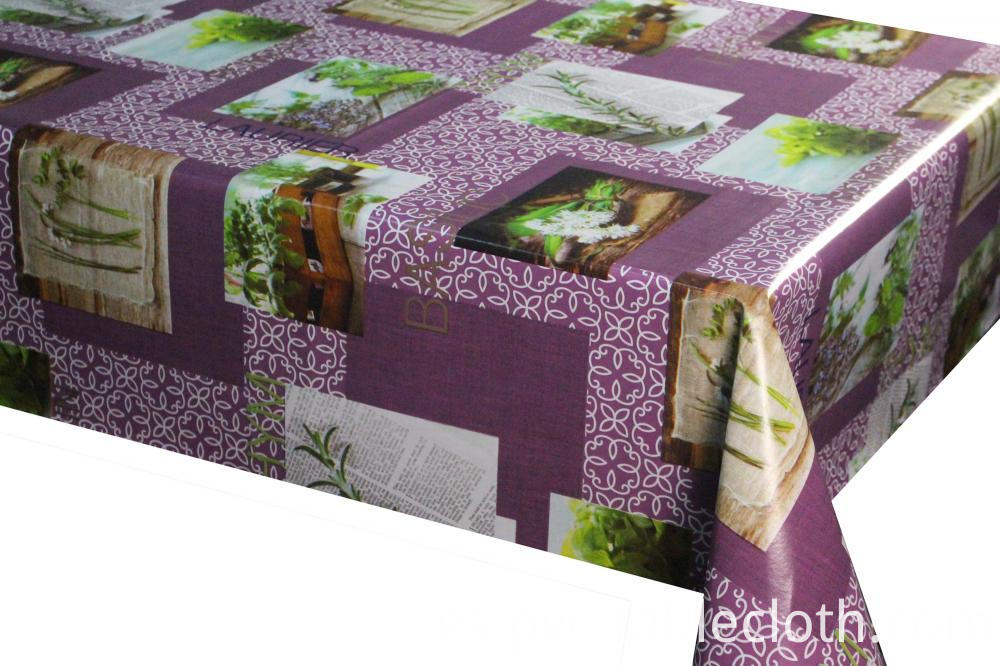 Three Layer/Two Layer PVC Printed Tablecloth With Non-woven