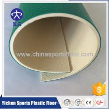 Production organique de plancher de PVC de matières premières vierges organiques et 100% pures de PVC