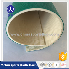 Organic and 100% pure PVC virgin raw materials pvc sport floor production
