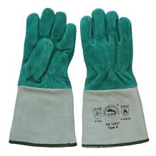 Ab Grado de piel de vaca de cuero de corte de los guantes de soldador