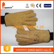 Brown Pig Split Leather Safety Gloves