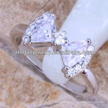 bowknot bague diamant bague bonbons nouveau design dames doigt anneau