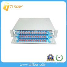 36 ports Rack Mounted ODF(Fiber Patch Panel) with 3 pcs 12 fibers unit fiber optic splice tray