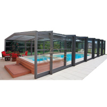 Couverture de piscine hors-sol en gazon artificiel