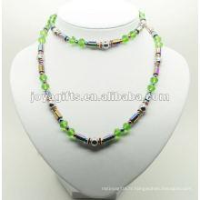 Emballage Hematite De Mode Avec Perles De Verre Vert