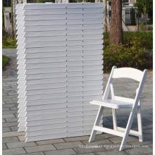Cadeira dobrável de resina de casamento branco da Real Factory