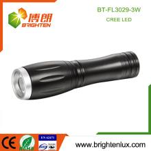 Factory Wholesale High Quality 1 * AA ou 14500 Batterie à l'Aluminium Petite Poche 3watt Cree Led Dimming Lampe de poche
