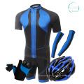 Maillot de cyclisme 100% polyester à manches courtes