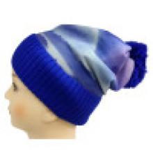Bonnet tricoté avec impression sublimation NTD1666