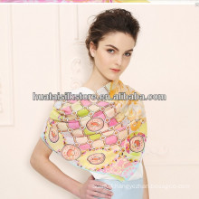 Hand Rolled Oversize UV Protection Georgette Oblong Silk Scarf