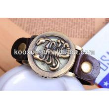 Relógio de couro pulseira pulseira de couro pulseira de couro KSQN-08