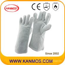 35cm Cowhide Split Industrial Safety Welding Leather Work Gloves (11103)