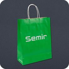 Promotional Kraft Paper Shopping Bag with Twist Handle