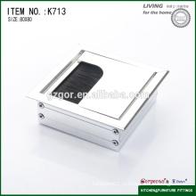 Офисный стол кабель алюминиевый квадратный ящик