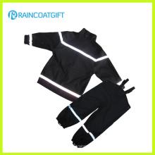 Reflective Boy′s PU Rainsuit Bib Pants Raincoat