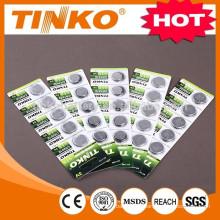 OEM CR1620 bulk/blister package hot selling CR2032/CR2025/CR2016