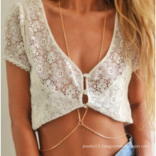 Fashion sexy golden plated belly body chains jewelry for women