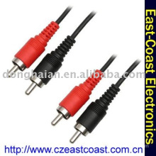Cinch Cable,2RCA male audio cable