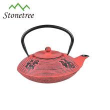Chinesische antike Gusseisenteekanne des antiken Metalls Email