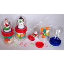 Santa & Schneemann Briefmarke mit Süßigkeiten (110819)