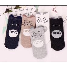 Cartoon Stockings Ears Short Tube Cotton Four Seasons Stockings Cartoon Cute Tube Women  Socks