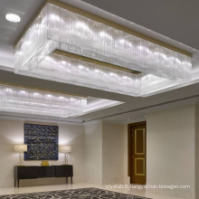 customizable lights luxury lamp home decoration rectangle crystal chandelier