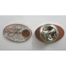 Latón 1 pulgada de metal solapa pin con brillo y epoxy (badge-067)