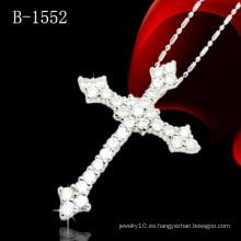 Colgante de la cruz con la plata esterlina 925 (B-1552)