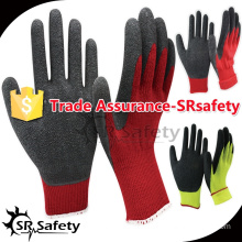 10G acrylic latex coated safety working gloves winter gloves latex foam gloves safety work