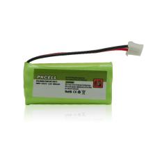 Bateria de 2.v AAA600mah Nimh para o telefone sem corda, luz de emergência
