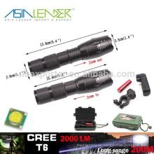 T6 / 10W-2000 lúmenes, linterna táctica recargable del LED