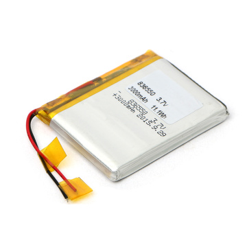 Fiable Reputation 836550 3.7V 3000mAh Li Polymer Battery