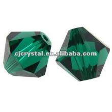 Bicône Cristal Peridot 4mm, Perles Crystal Bicone