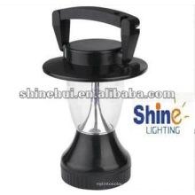Manivela de mano negra más pequeña Energía que ahorra la luz llevada solar de la tienda de campaña