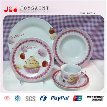 Platos de cena a granel baratos de la porcelana de la venta caliente 9inch para las pastas