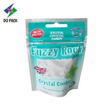 Sacos de embalagem de plástico com zíper para bombons de cristal de xilitol