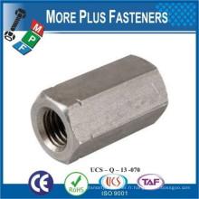 Fabriqué en Taiwan DIN 6334 Ecrou à connexion hexagonale Nouvelle largeur en acier selon norme ISO 272
