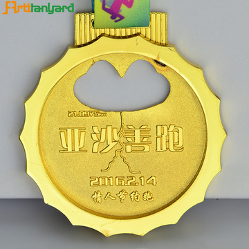 Supply Custom Metal Souvenir Award Medal With Ribbon